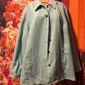 CJ Banks lt turquoise jacket blazer 3x soft